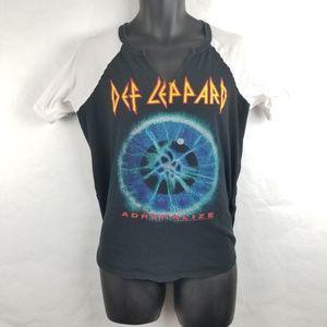 Def Leppard Woman Cut Neck Concert Adrenalize
